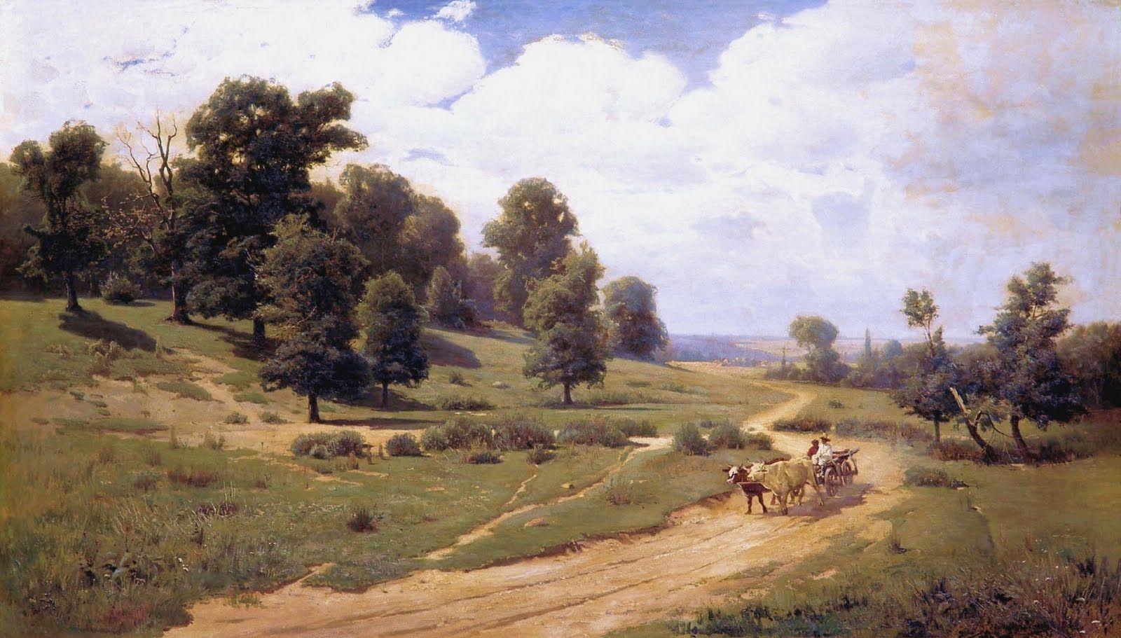 Sergei Vasilkovsky 19th Century Russian Landscape Landscape Paintings Landscape