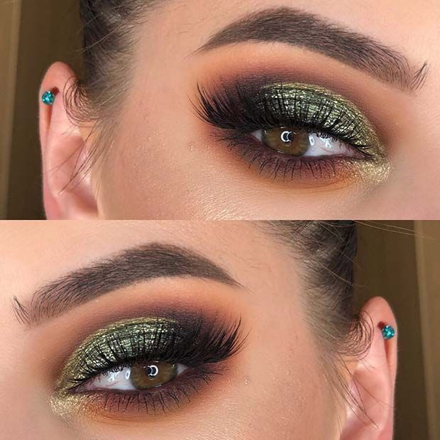 23 Stunning Makeup Ideas for Fall and Winter | StayGlam – Brown and Dark Green Eye Makeup Idea StayGlam, presentamos la mejor imagen que te puedes enc…