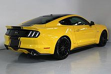 2016 Ford Mustang Gt V8 Triple Yellow Black Roof With Stripes And Roush Earance Team Hutchinson