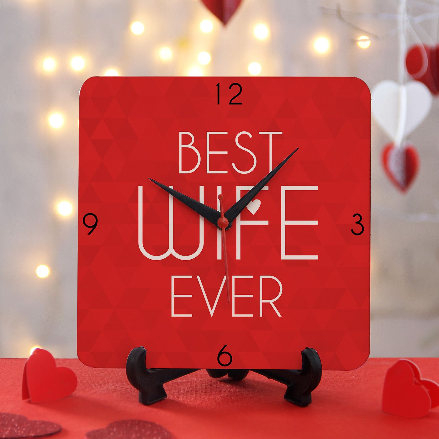 Customized Clock with Stand Best Wife Ever in 2020