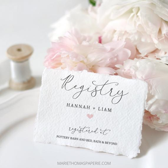 Lacie Registry Card Template Bridal Shower Registry Insert Etsy Wedding Website Card Bridal Shower Registry Printable Wedding Invitations