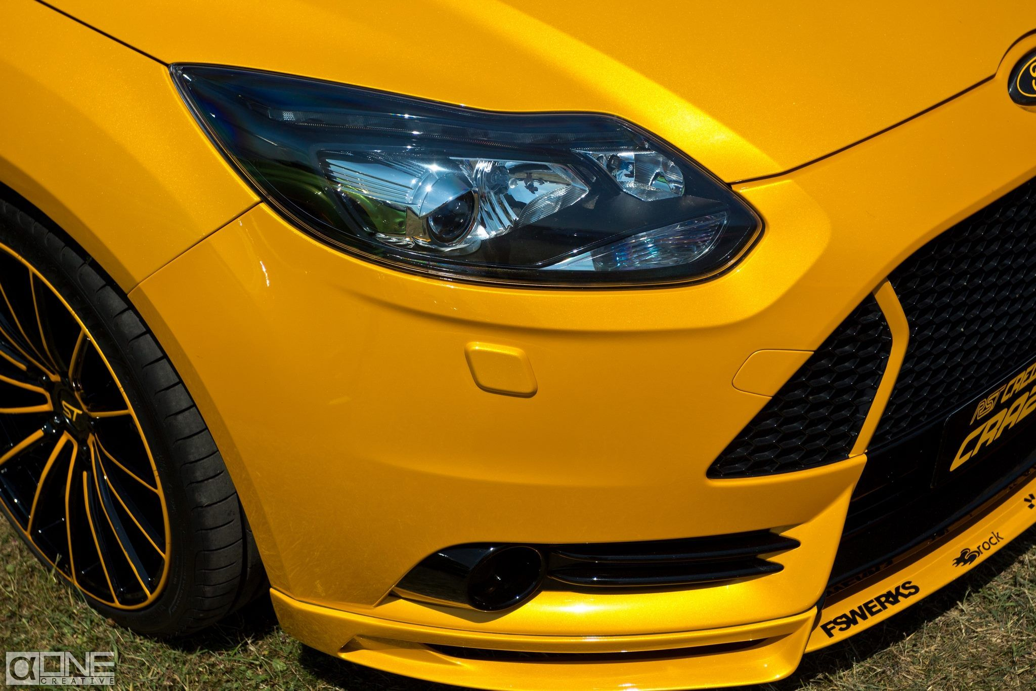 ford focus st 3 tuning big rims front bumper tuning