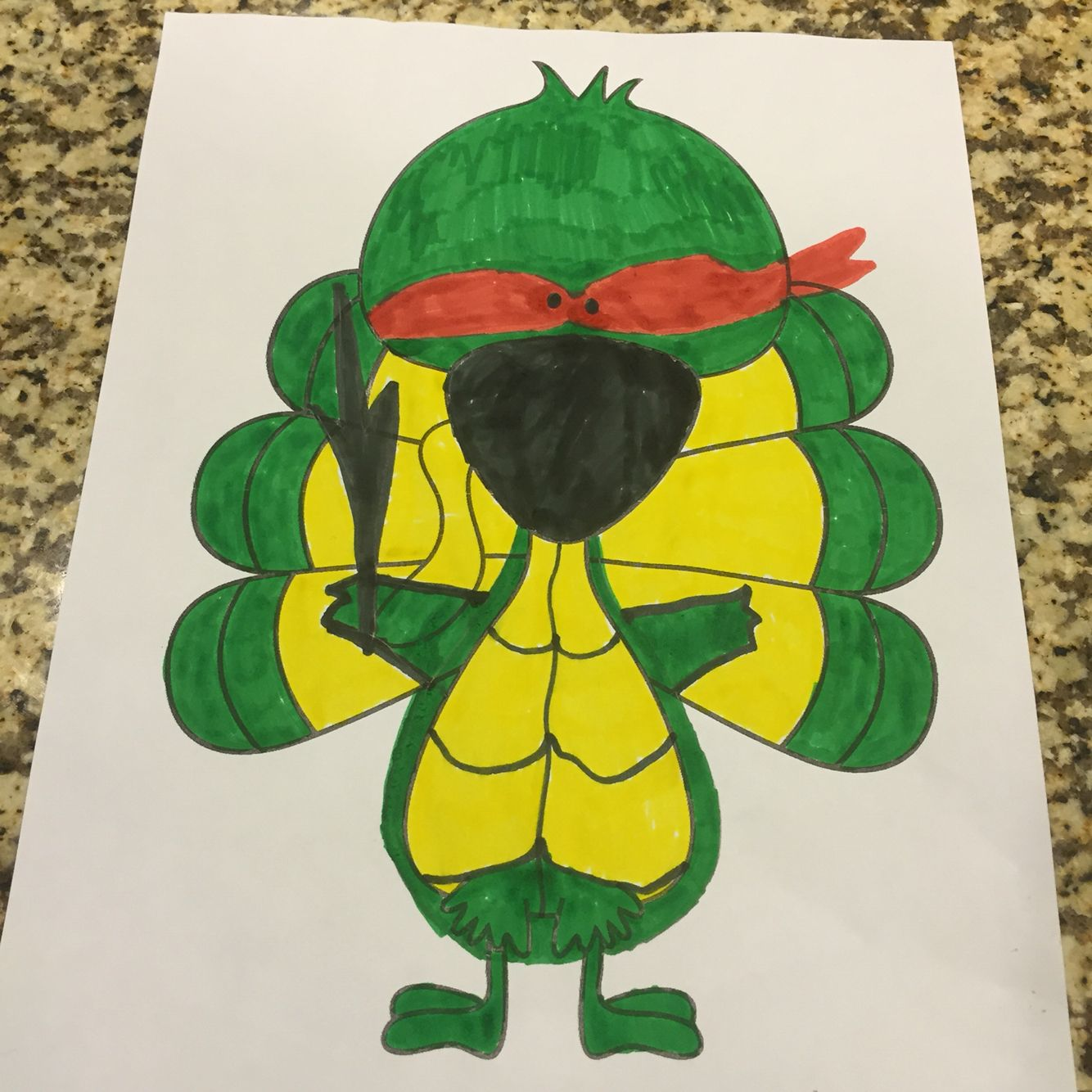 Disguise Turkey Ninja Turtle