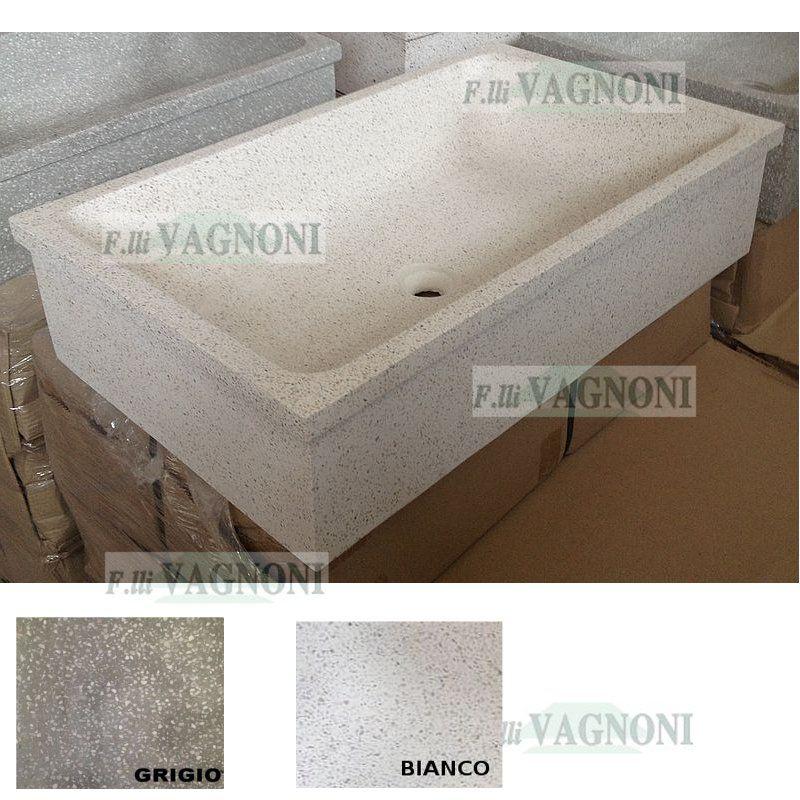Lavelli In Graniglia Per Cucina.Lavandino In Graniglia Di Marmo E Cemento Levigato Cm 86x52 Lavello In Cemento Lavello Da Giardino Arredamento Casa
