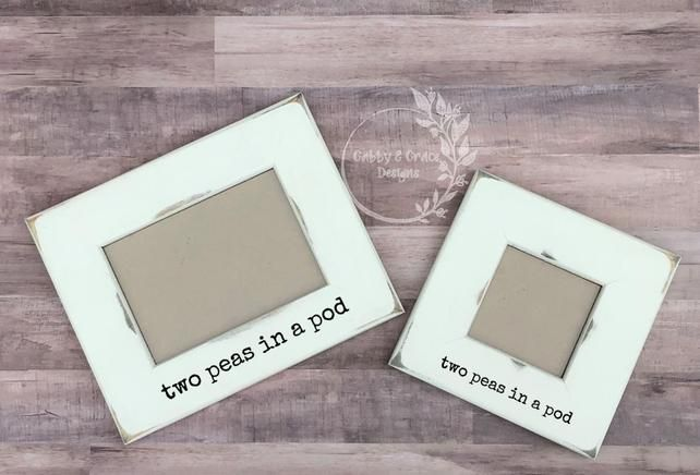 Two Peas In A Pod Twins Ultrasound Frame Twins Sonogram Frame
