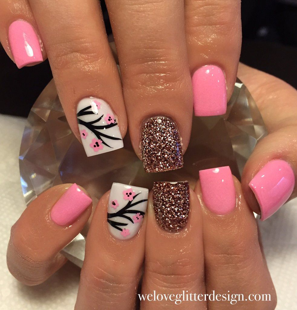 Cherry Blossom Nail Decal | Soft Pink | Nail decals, Makeup and Nail ...