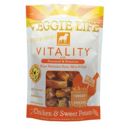 Dogswell Veggie Life Vitality Chicken & Sweet Potato Dog Treats