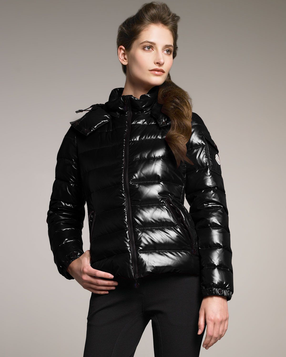 Black Moncler 'Bady' down jacket