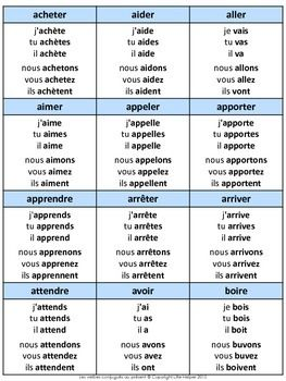 French Les Verbes Conjugues Au Present French Flashcards French Verbs Learn French