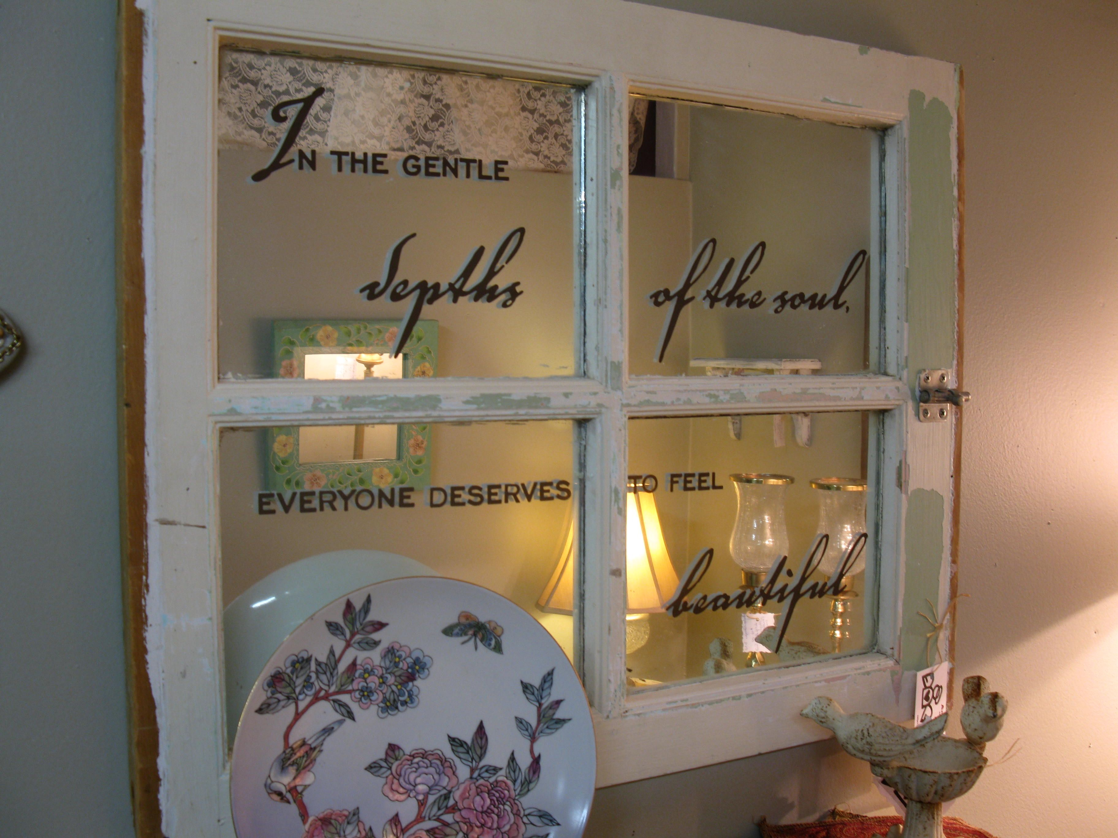 Beautiful Mirror Repurposed 4 Pane Window Annhgiel