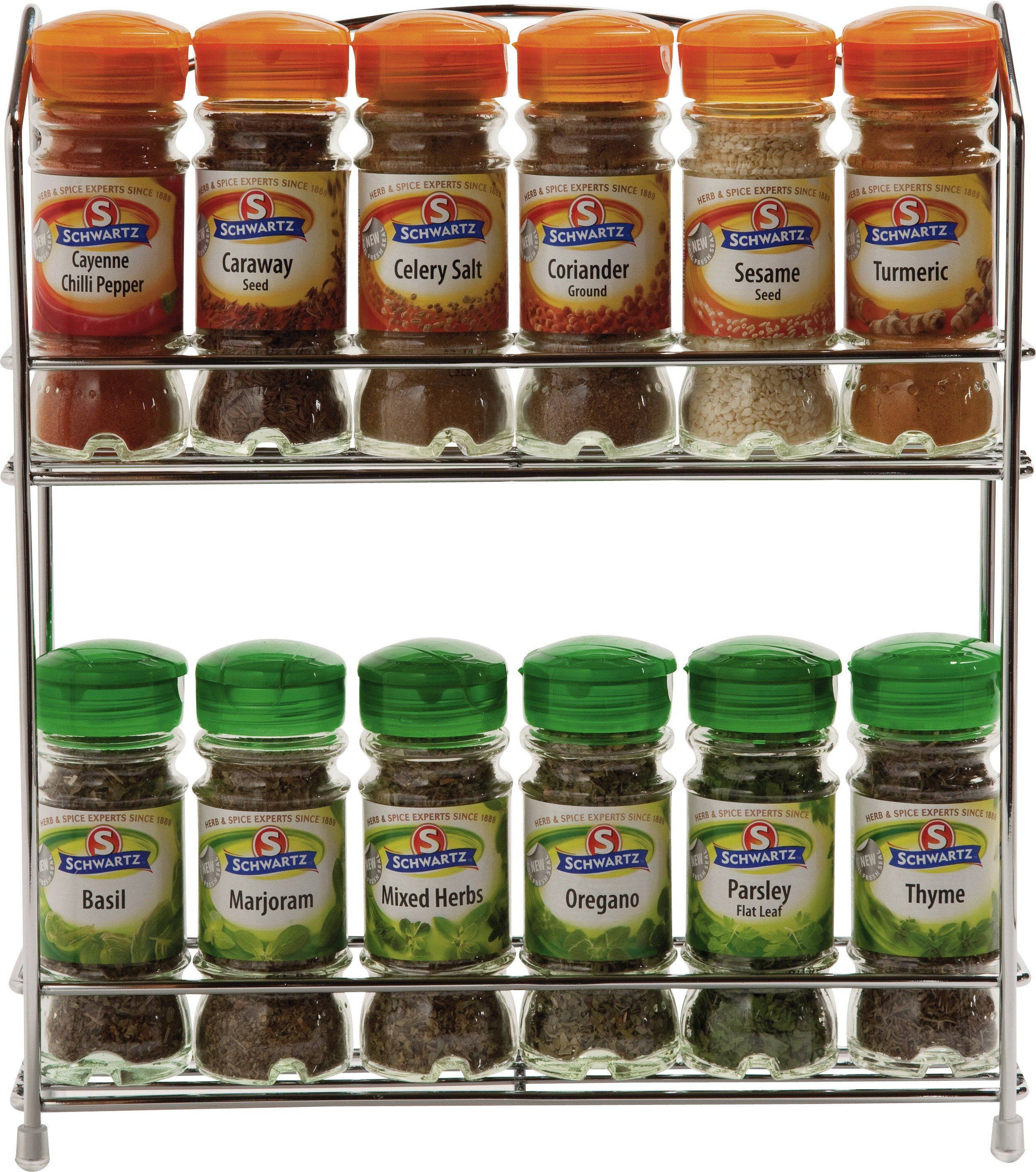 HOME   Wall Mountable Wire 12 Jar Rack With Spices: This Wall Mountable  Spice Rack
