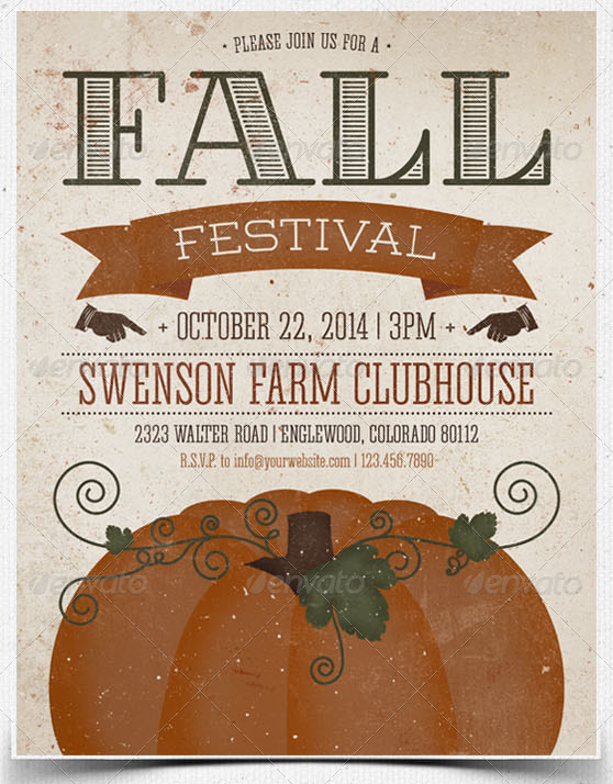 fall festival flyer and postcard template flyer designs