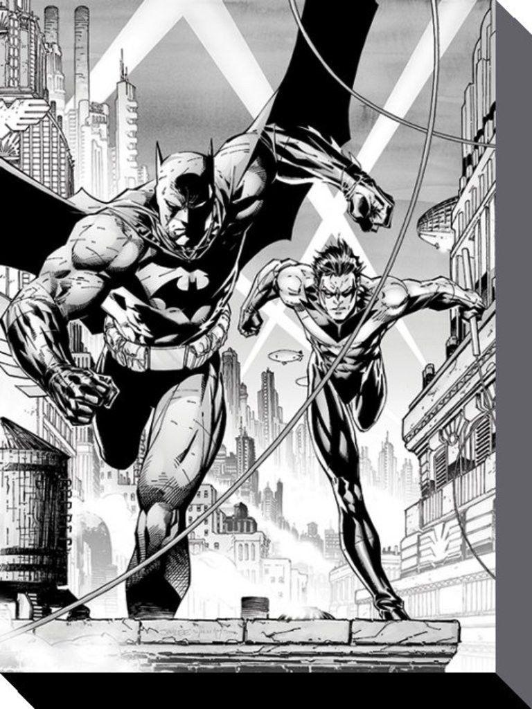 batman - dc comics - batman and nightwing - official canvas print