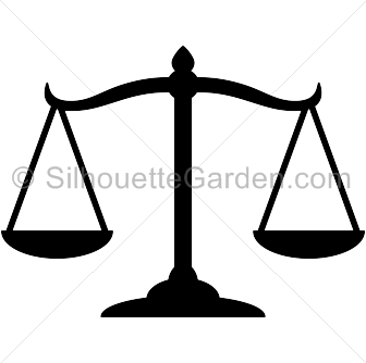 Scales Of Justice Silhouette Silhouette Clip Art Justice Tattoo Scales Of Justice Tattoo