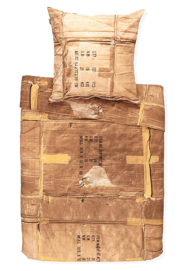 in optik von karton.. genial ;)    LE CLOCHARD - Bettwäsche - brown