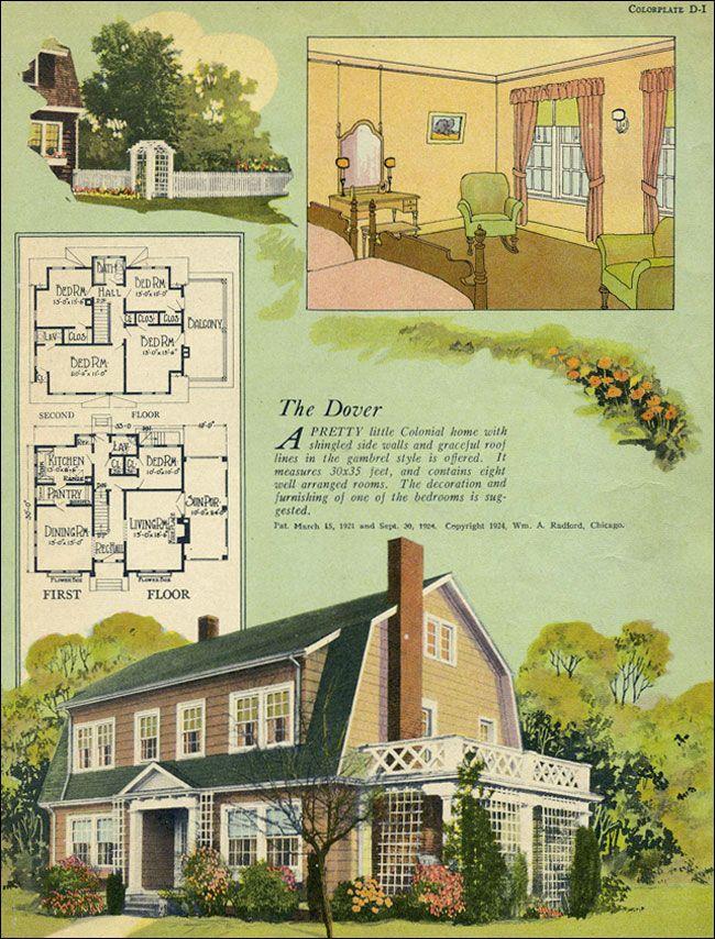 1924 Radford Dover VINTAGE HOUSE PLANS House Design