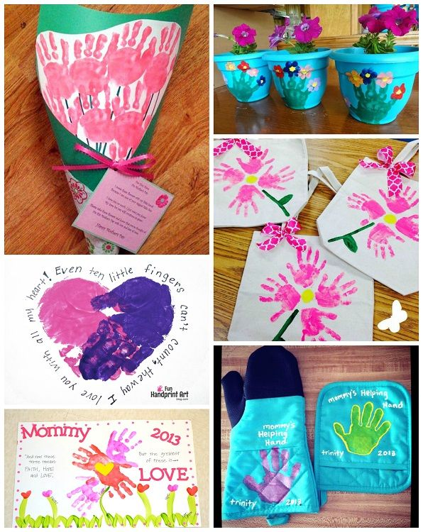 Attractive Craft Gift Ideas For Kids Part - 7: Motheru0027s Day Handprint Crafts U0026 Gift Ideas For Kids To Make - Crafty Morning