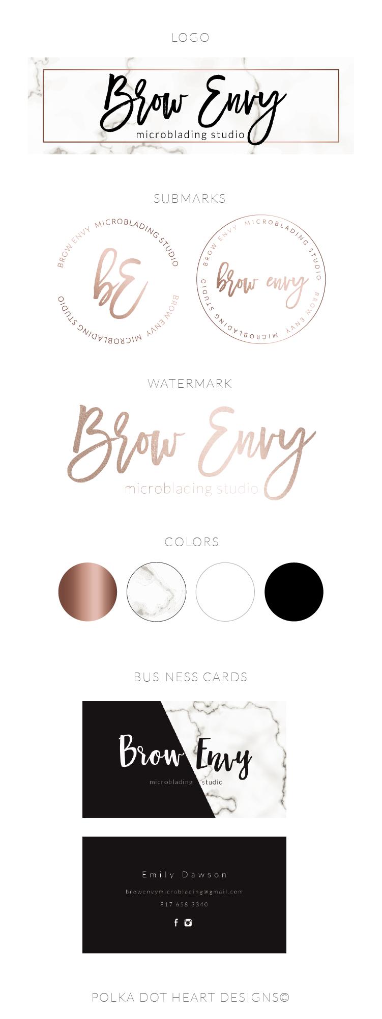 Logo Design | Rose Gold Logo Design | Marble Logo | Photography Logo | Watermark | Branding Package | Personal Identity #rosegold #logo #logodesign