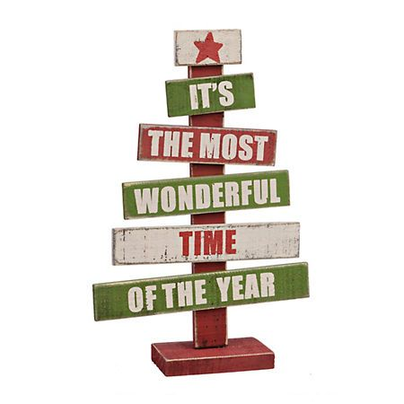 Most Wonderful Time Wood Word Tree | Kirklands
