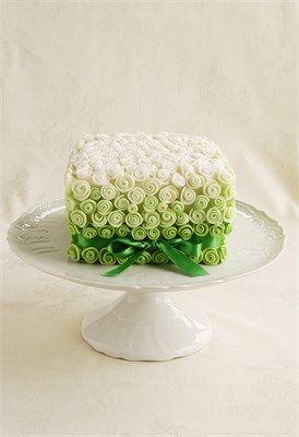 Stylish Green Wedding Cake #wedding #cake