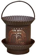 New Primitive BROWN PUNCHED WILLOW TREE WAX TART WARMER LIGHT Electric Lamp