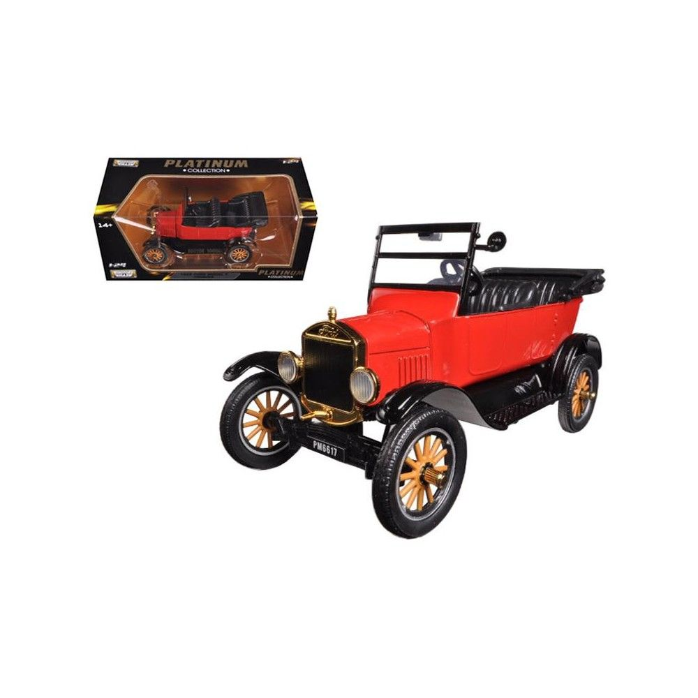 1925 Ford Model T Touring Red 1 24 Diecast Model Car By Motormax