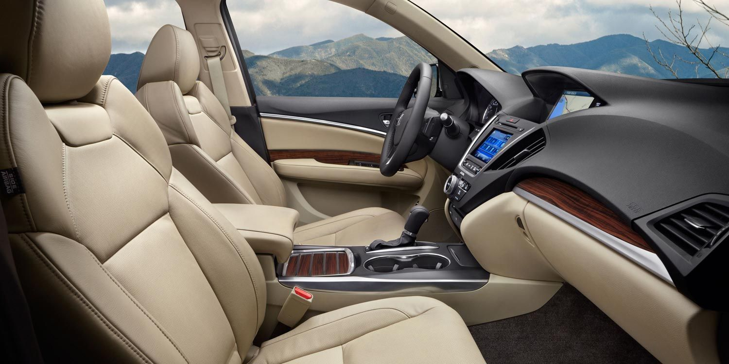 2014 acura mdx with advance and entertainment packages and parchment interior