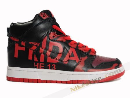 Black · Nike Dunk High Mizzee Customs Friday The 13th Red Black