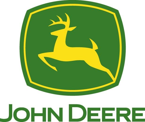 John Deere Logo - This logo shows strong color contrast with ...