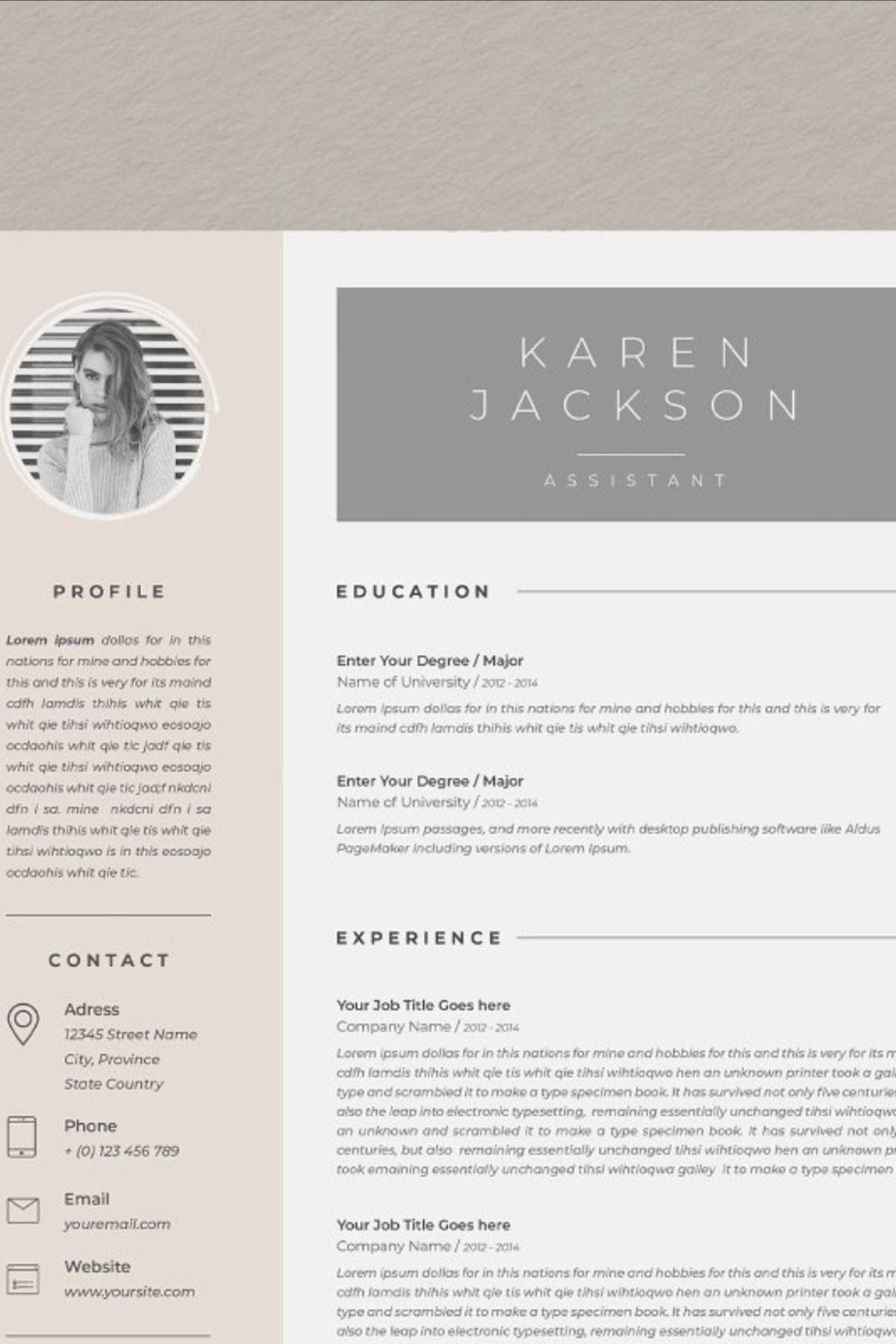 My Resume V1 in 2020 Best resume template, Resume