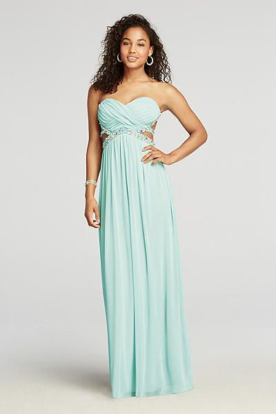 Strapless Crystal Beaded Cut Out Prom Dress 8420CB3B | Prom ...