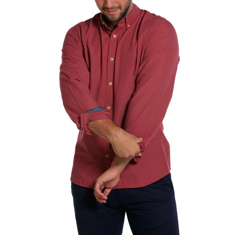 Washed Houndstooth Shirt - Red