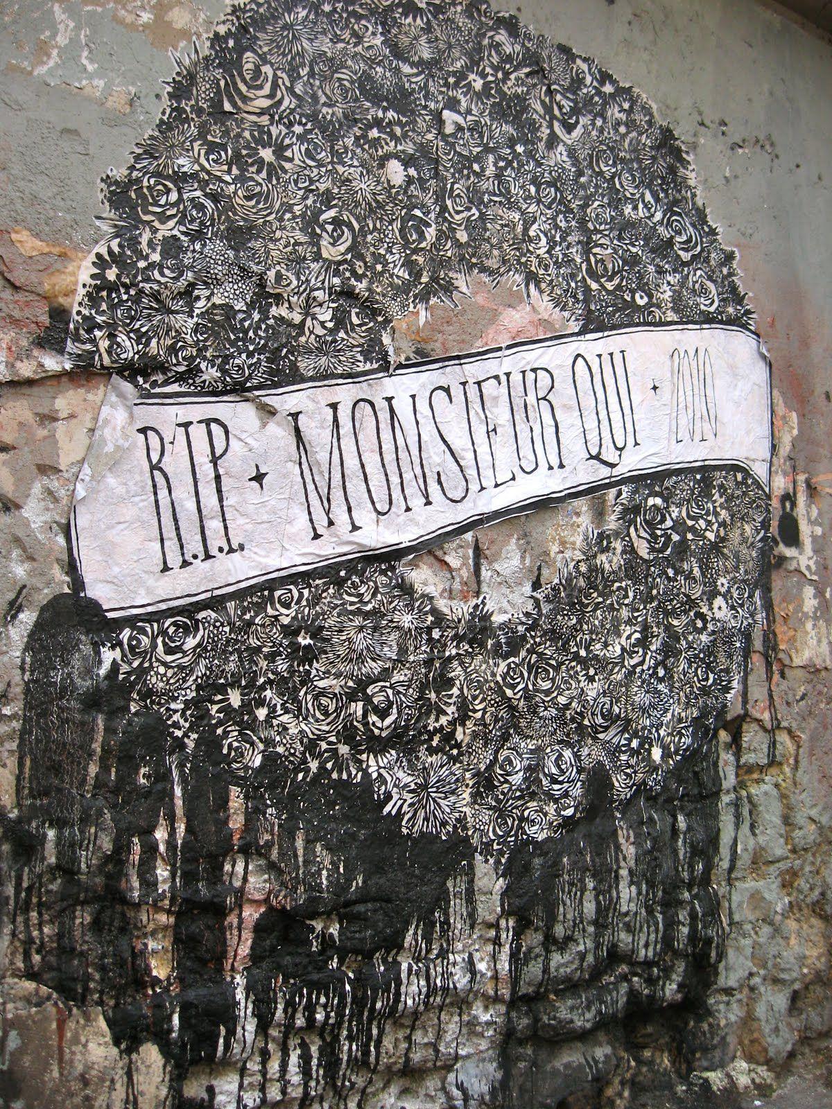 #StreetArt #UrbanArt - Monsieur Qui