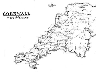 Map Of England 6th Century.Cornwall In The 6th Century Kernow Cornwall Map Cornwall