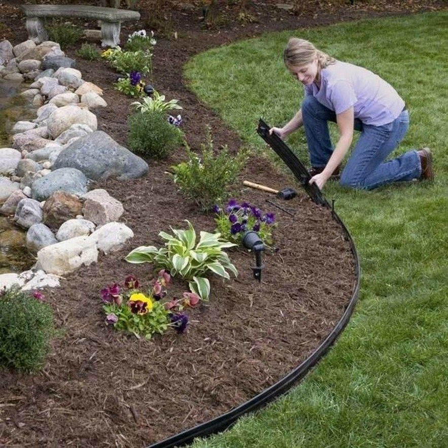 46 Rock Garden Ideas Landscaping For Make Your Garden Look Beautiful 10 Plastic Garden Edging Garden Edging Lawn Edging