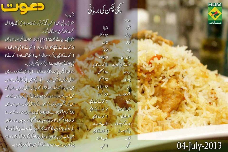 Kachi Chicken Ki Biryani