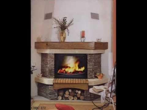 Resultado de imagen para chimeneas esquineras rusticas for Estufa pellets esquina