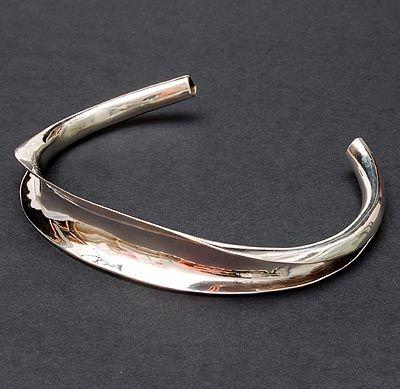 HANS APPENZELLER 1949 - Silver necklace design execution Amsterdam / the Netherlands 1975
