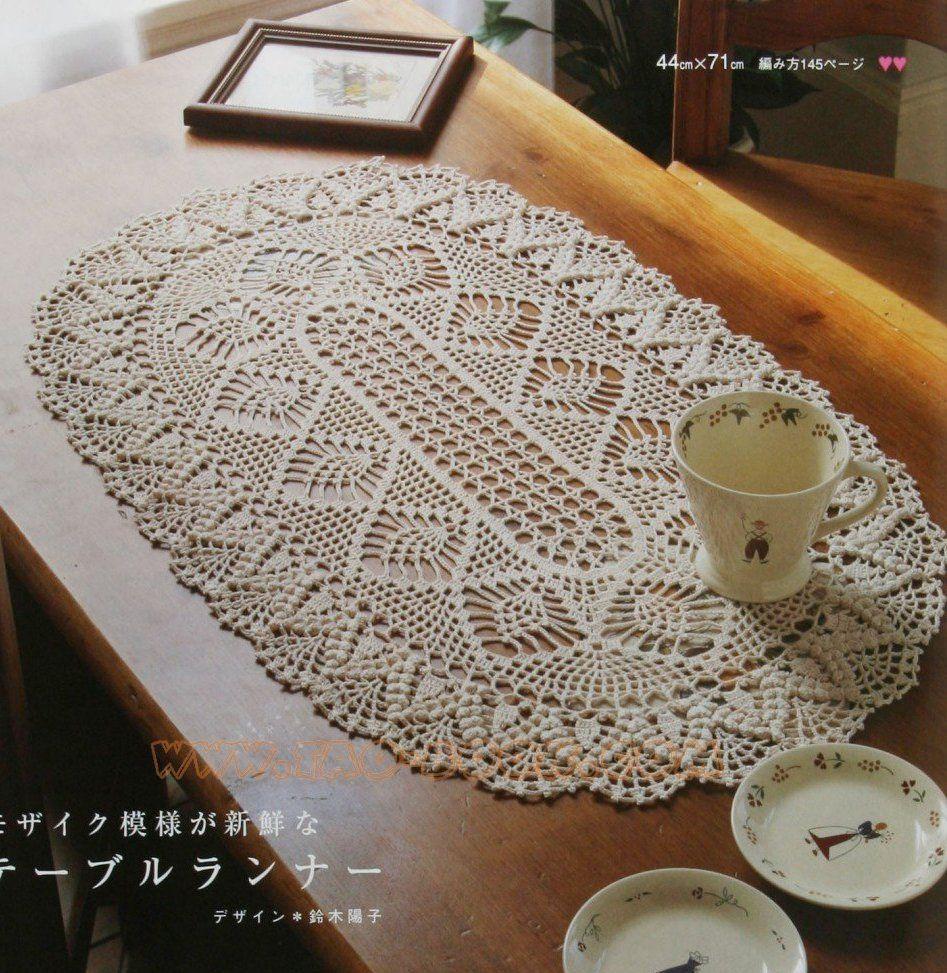 Прямоугольная салфетка крючком схема и фото