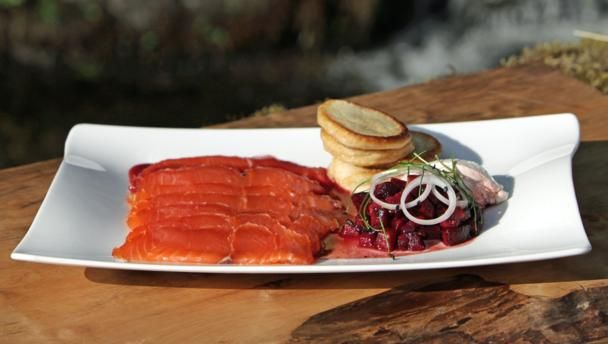 Whisky cured salmon with beetroot and blinis recipe whisky bbc food recipes whisky cured salmon with beetroot and blinis forumfinder Choice Image