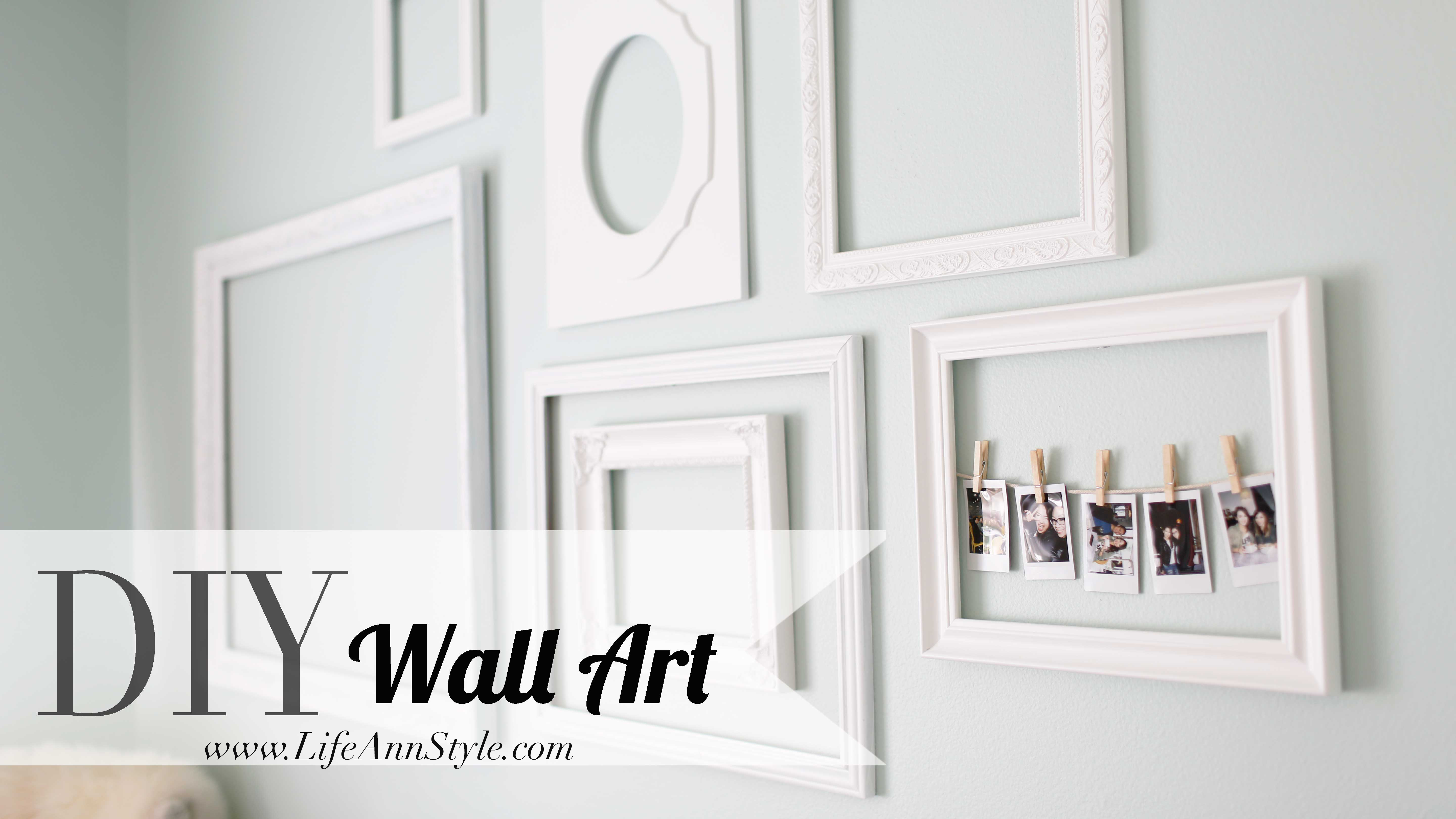 Diy Make A Statement With Empty Picture Frames As Wall Art