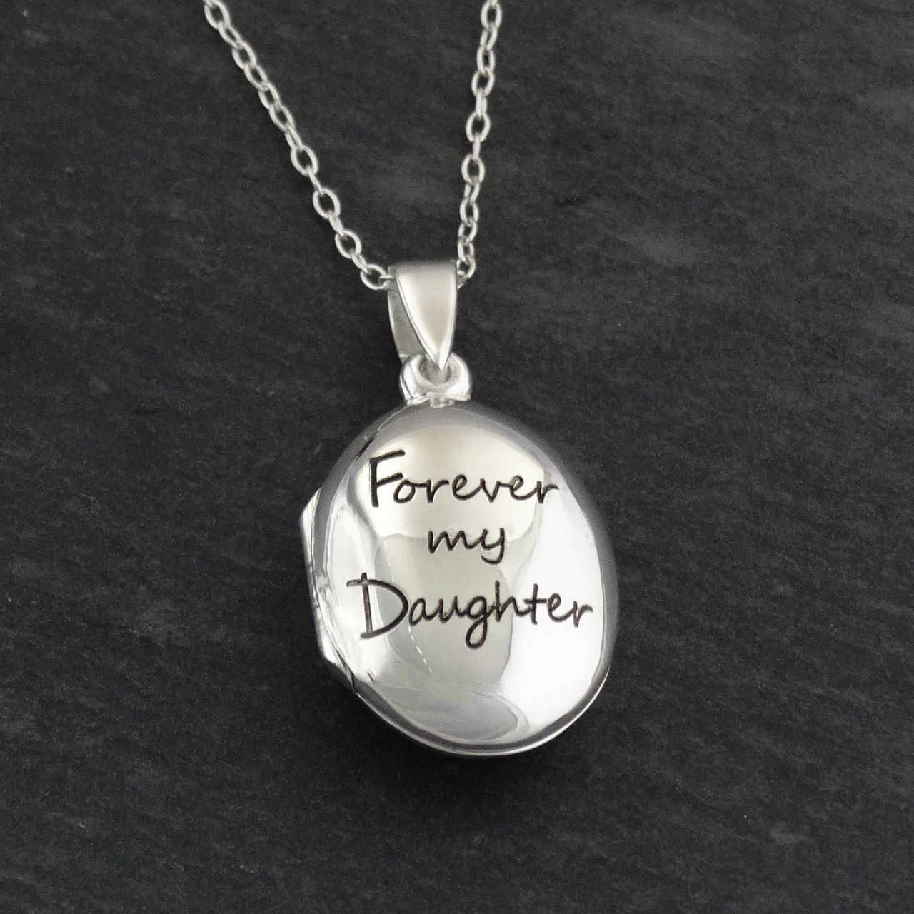 Engraved forever my daughter locket necklace sterling silver engraved forever my daughter locket necklace sterling silver mozeypictures Images