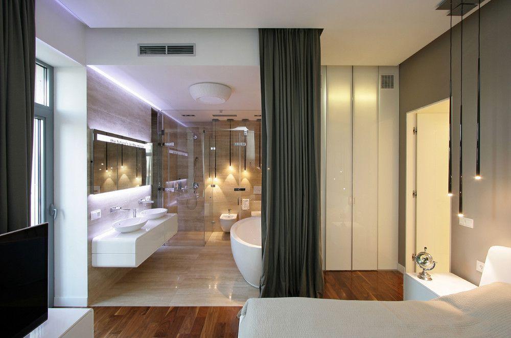 ... Open Plan Bedroom #3 Modern Bathroom Design: Open-plan Suite ...