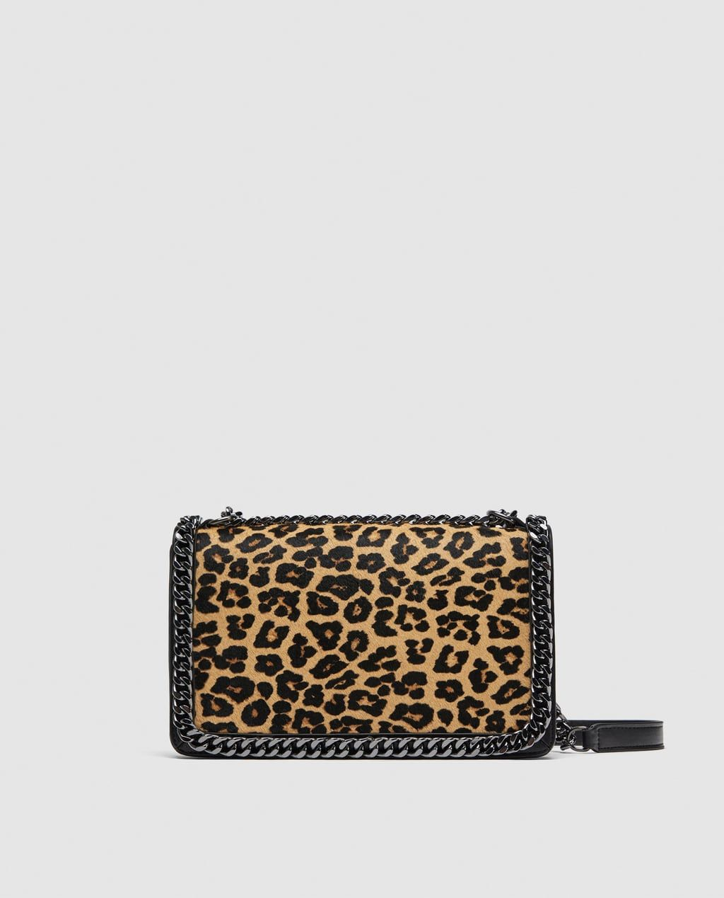 270520153fc7 Image 2 of LEOPARD PRINT LEATHER CROSSBODY BAG from Zara | >>Style ...