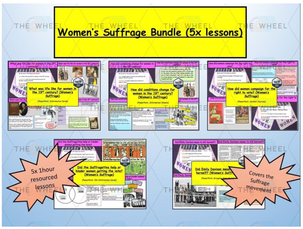 Women S Suffrage In U K Bundle 5x Lessons