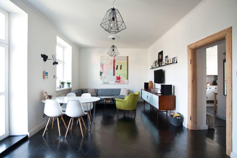 Mieszkanie Z Czarna Podloga Kuchnia Styl Nowoczesny Aranzacja I Wystroj Wnetrz Home Decor Home Interior