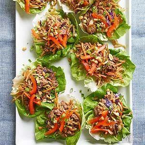 Korean Beef Lettuce Wraps Recipe Ground Beef Recipes Healthy Healthy Ground Beef Beef Lettuce Wraps