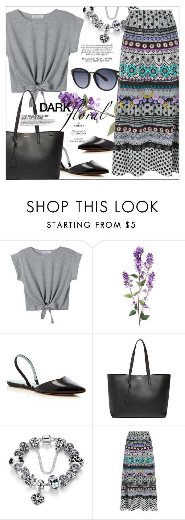 """""""Dark Floral"""" by cilita-d ❤ liked on Polyvore featuring Bibi, Marc Jacobs, Yves Saint Laurent and Temperley London"""