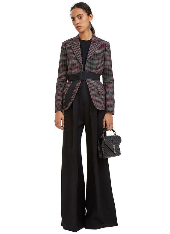 Yang Li Tartan Single-Breasted Blazer Jacket   LN-CC