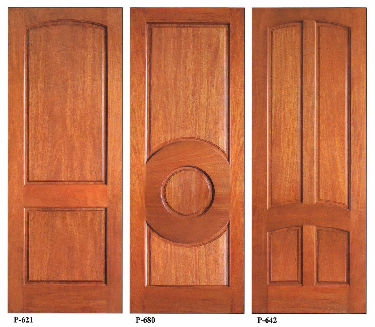Wood door oak exacting artistry from modern front doors to for Wood stile and rail doors